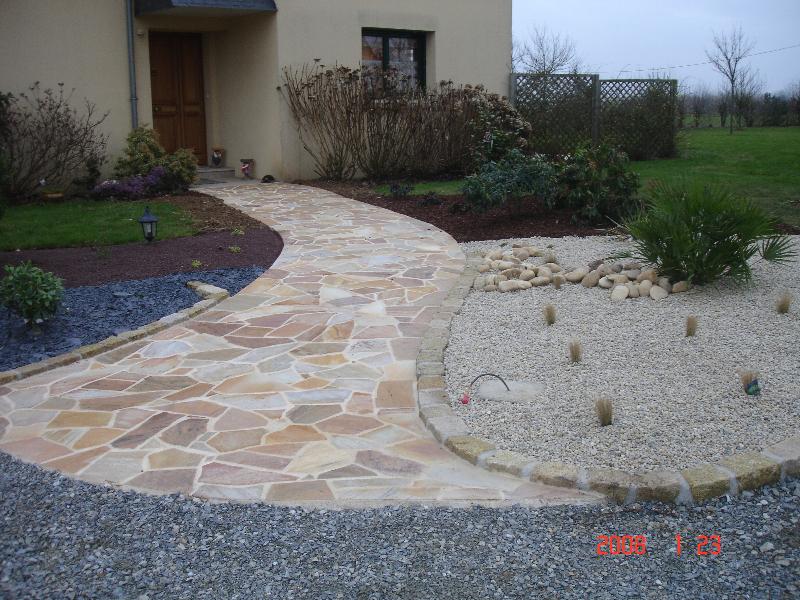 Dallage michel vassal paysagiste for Recouvrir carrelage terrasse